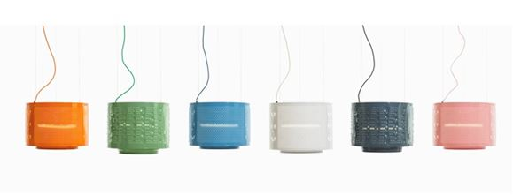 upcycled washing machine drum lights by Willem Heeffer