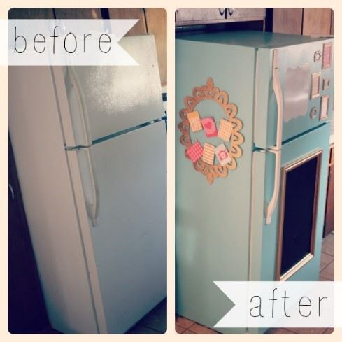 decorate fridge - a lick of paint