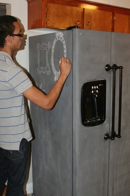 decorate fridge - chalkboard transformation