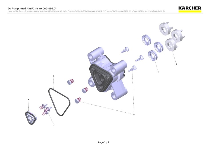 Karcher k5 premium full control eu pressure washer 20 pump head alu fc ric - Karcher k5 premium full control ...