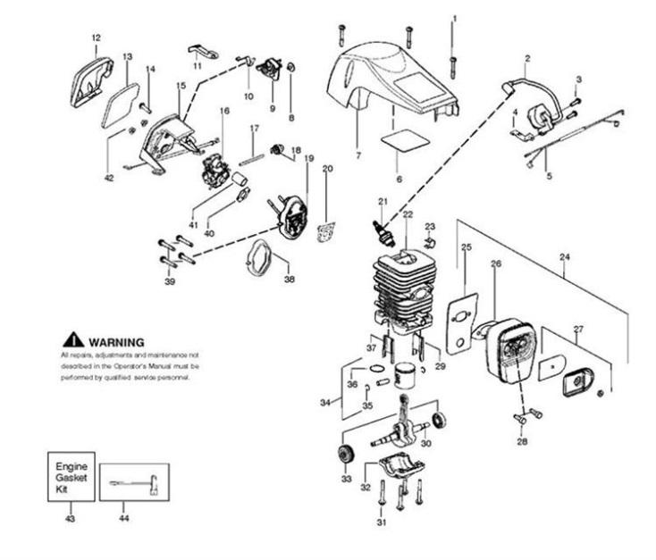 mcculloch mac 8 38  mac 838  952802196  chainsaw engine spare parts diagram McCulloch 38Cc Chainsaw Parts Diagram McCulloch Chainsaw Fuel Line Diagram
