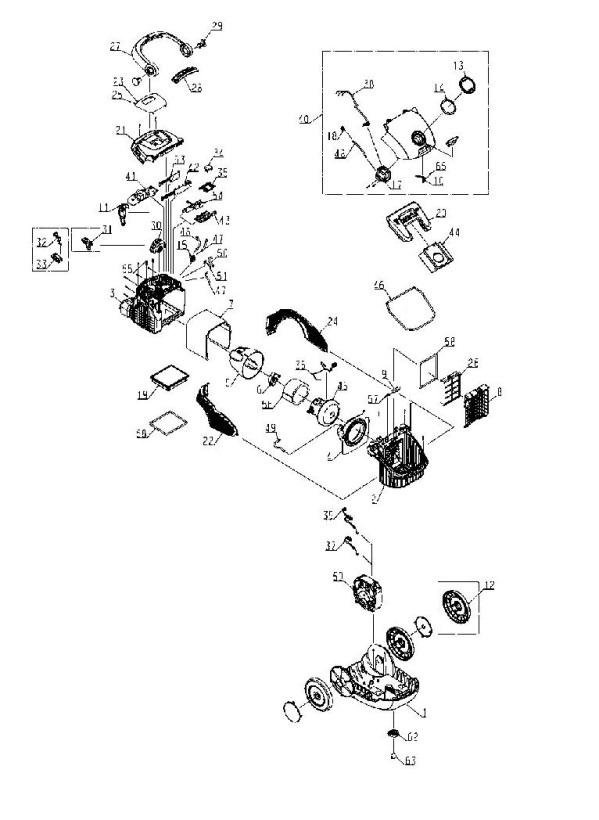 electrolux zo6340  90741140100  vacuum cleaner l vacuum cleaner a spare parts diagram