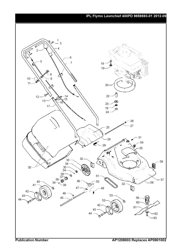 Lawn Chief Mower Parts Diagram