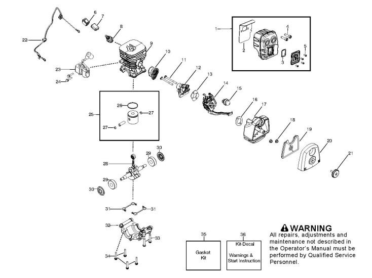 husqvarna 125 bvx  952715645  garden blower engine spare parts diagram