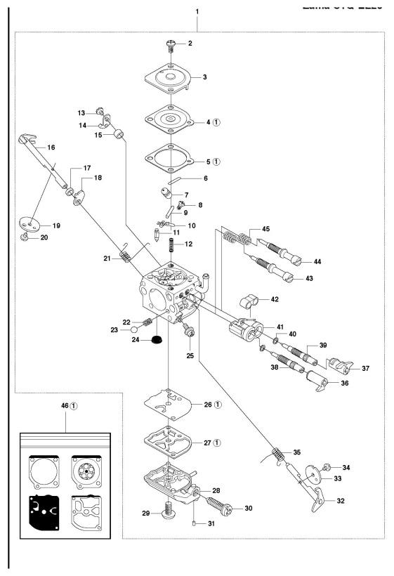 Husqvarna 345 Rx 2010 09 Trimmer Carburetor Spare Parts Diagram