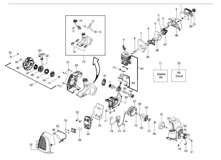 husqvarna 128 r  952715752  trimmer engine spare parts diagram