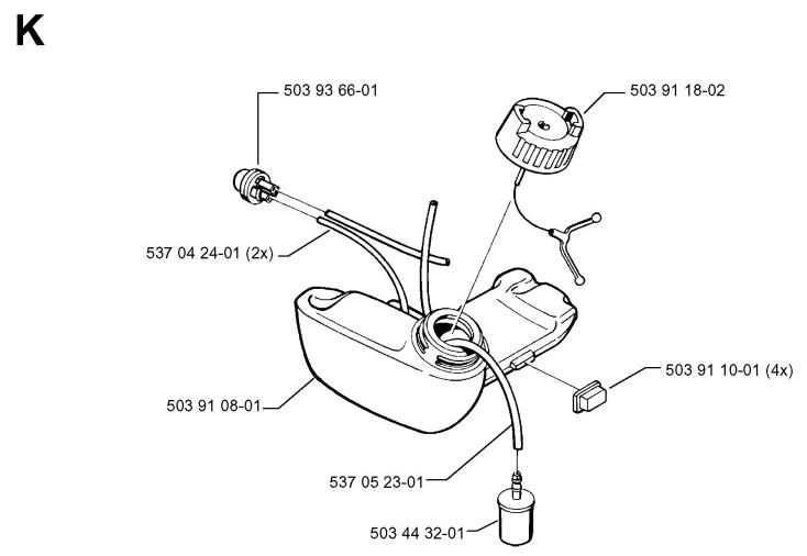 husqvarna 235 chainsaw parts diagram