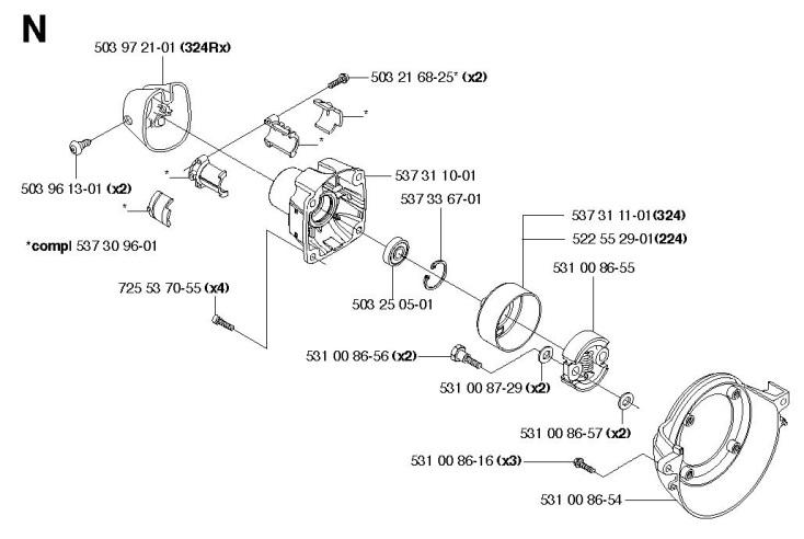 Husqvarna02392 husqvarna 324 ldx trimmer clutch spare parts diagram
