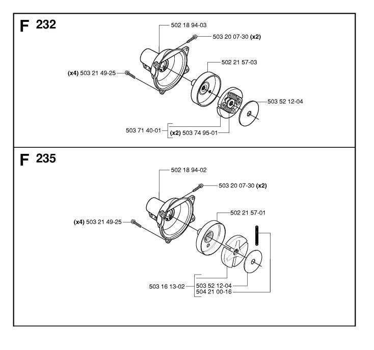 Husqvarna 232 R (2006-01) Trimmer CLUTCH Spare Parts Diagram
