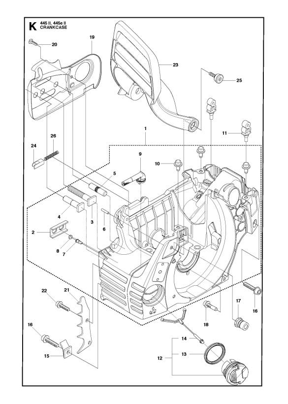 Husqvarna 445 Chainsaw Diagram