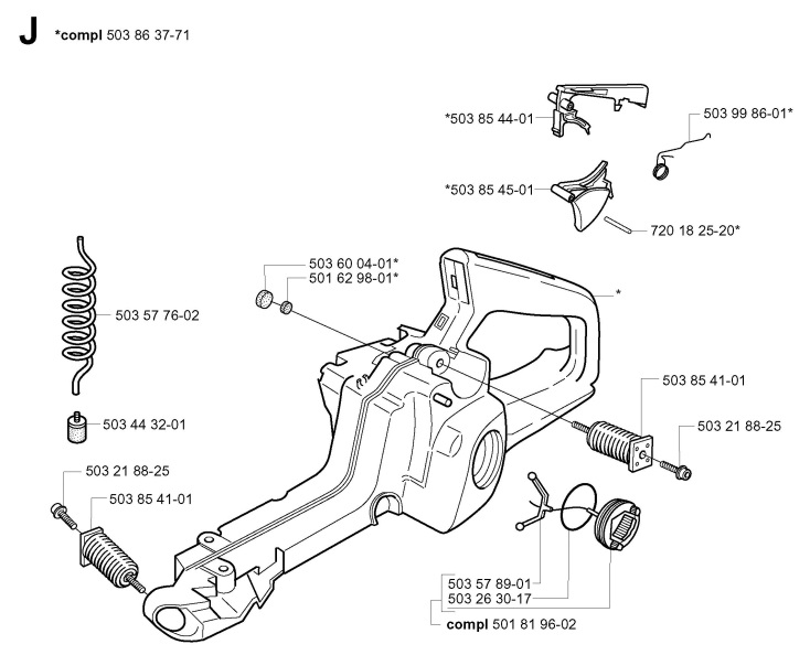 Array - husqvarna 345  2001 09  chainsaw fuel tank spare parts diagram  rh   ransomspares co uk