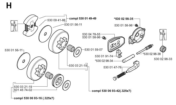 Husqvarna 136 Chainsaw Parts Diagram | Graph Pedia