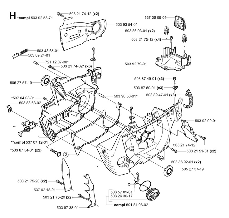 husqvarna 372xp parts list and diagram ereplacementparts