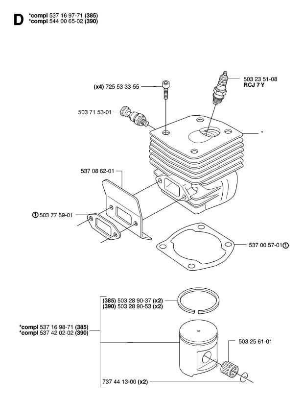 Husqvarna Model 55 Chainsaw Parts Diagram