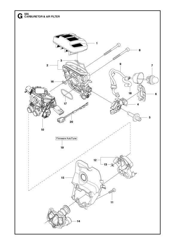 husqvarna 555 chainsaw carburetor  u0026 air filter spare parts
