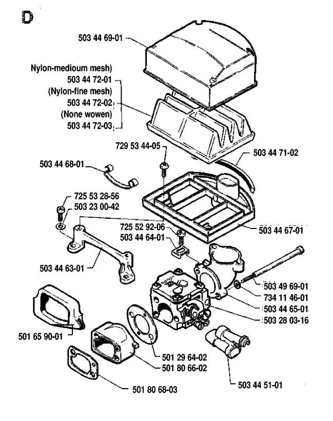 Husqvarna 51 Chainsaw Parts Diagram