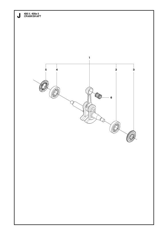 Husqvarna 435 E Ii Chainsaw Crankshaft Spare Parts Diagram
