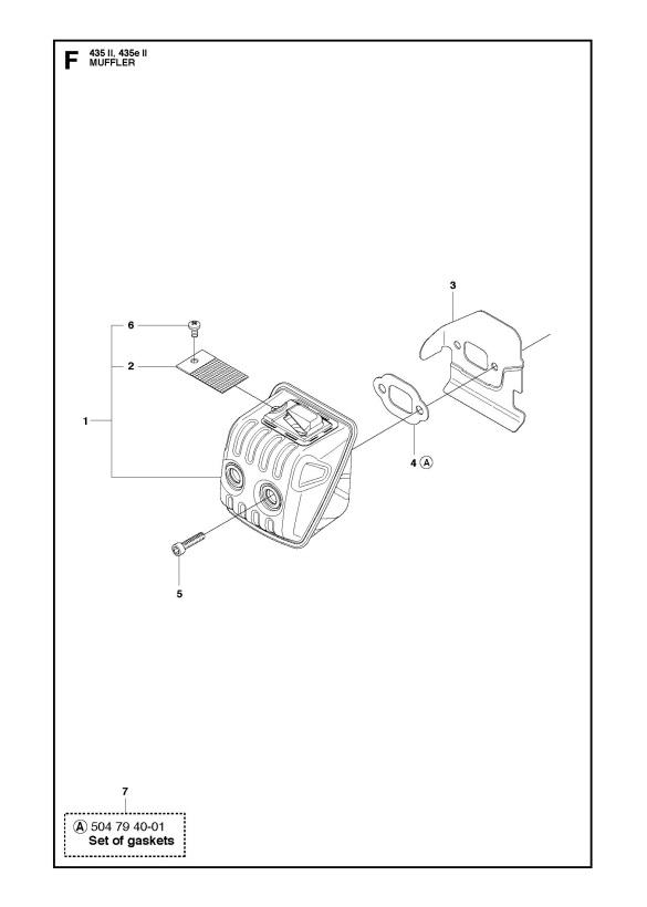 Husqvarna 435 Ii Chainsaw Muffler Spare Parts Diagram