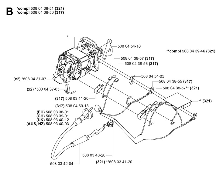 husqvarna 50 chainsaw parts diagram