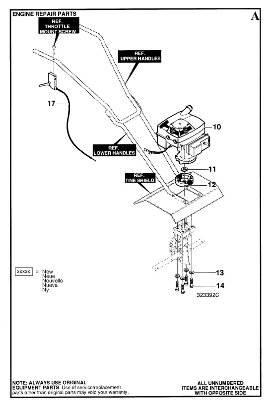Husqvarna Ct 20 1998 03 Cultivator Engine Spare Parts Diagram