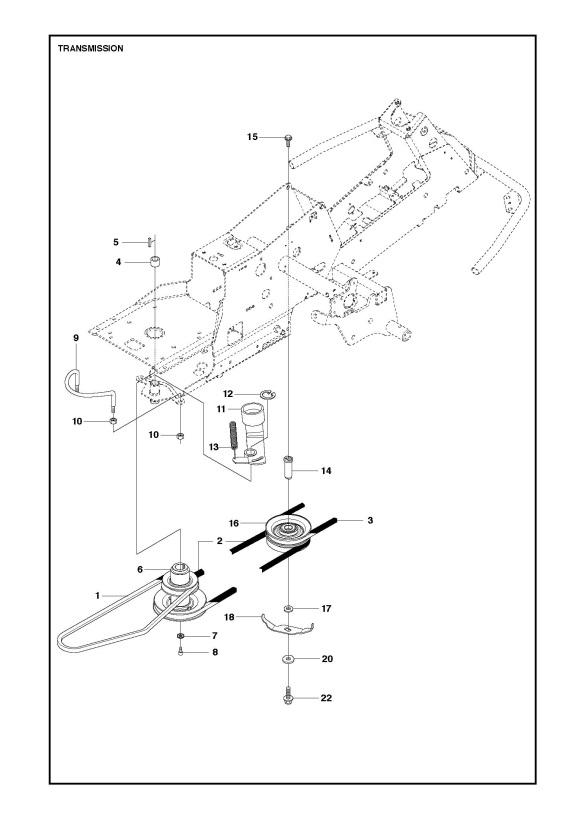 Husqvarna R216 Awd  967150701  Ride On Mower Transmission