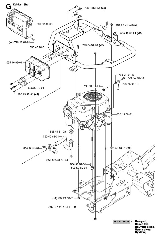 husqvarna rider 155 awd (965080001) ride on mower engine Husqvarna LGT2654 Engine Diagram