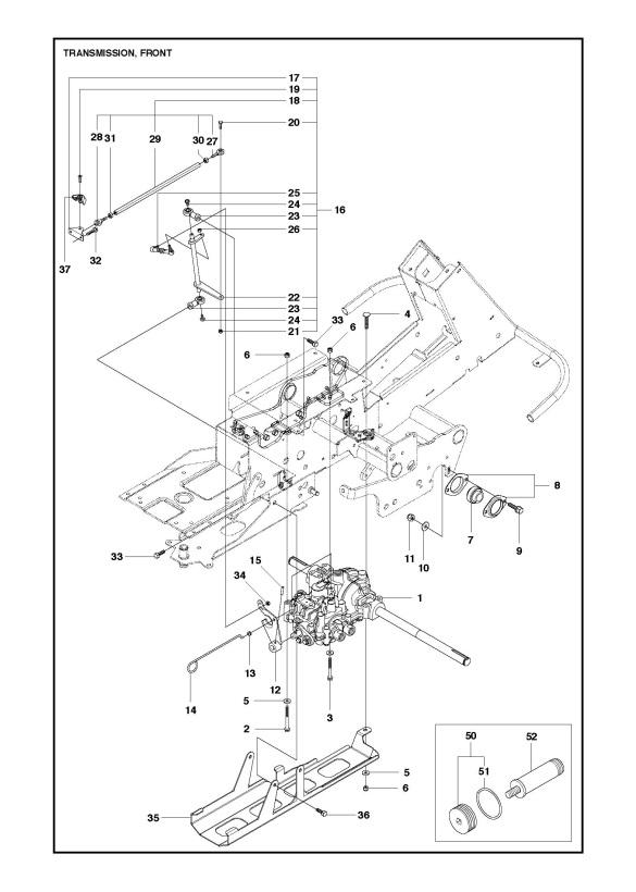 Husqvarna R422 Ts Awd 966772901 Ride On Mower Transmission Spare