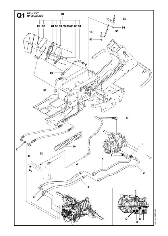 Husqvarna PROFLEX 21    AWD     965192501  Ride On Mower
