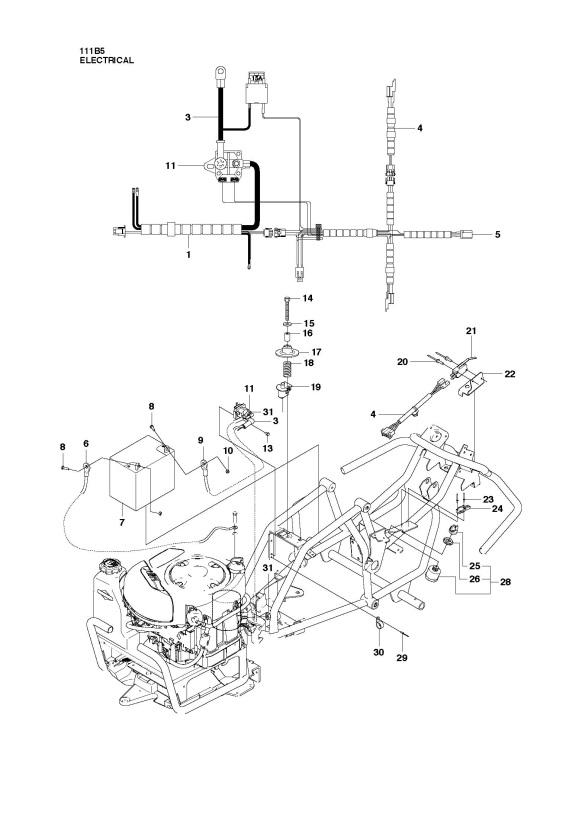 Husqvarna R111 B5  965996785  Ride On Mower Electrical