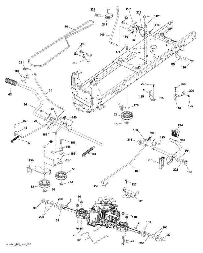 Husqvarna Ts 242 96041038400 Ride On Mower Drive Spare Parts Diagram