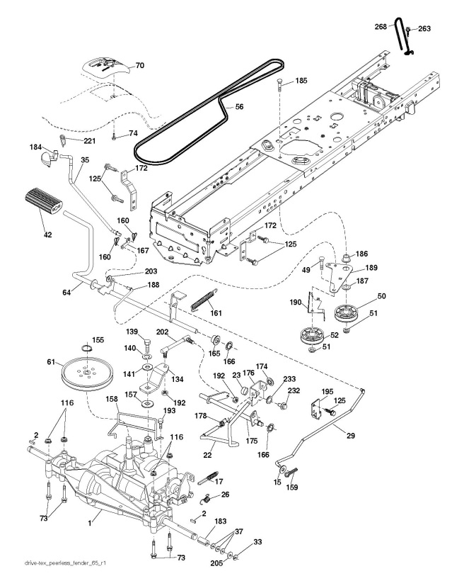 Husqvarna Ts 38 96041036601 Ride On Mower Drive Spare Parts Diagram
