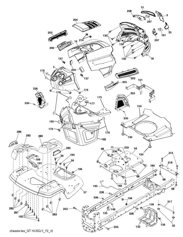 Husqvarna Yth2348 Parts Diagram Husqvarna Yth Parts Sears Craftsman
