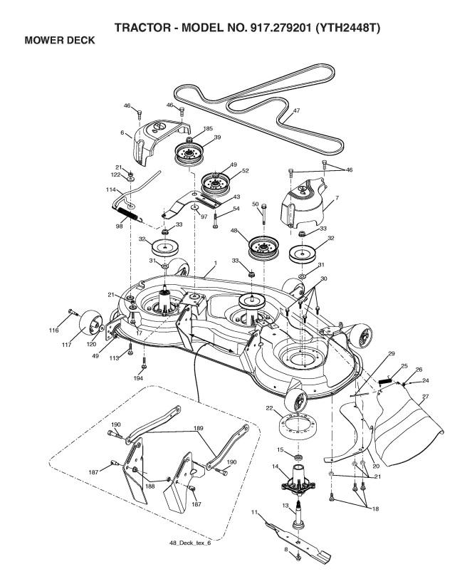 Husqvarna Yth2448t Parts Manual