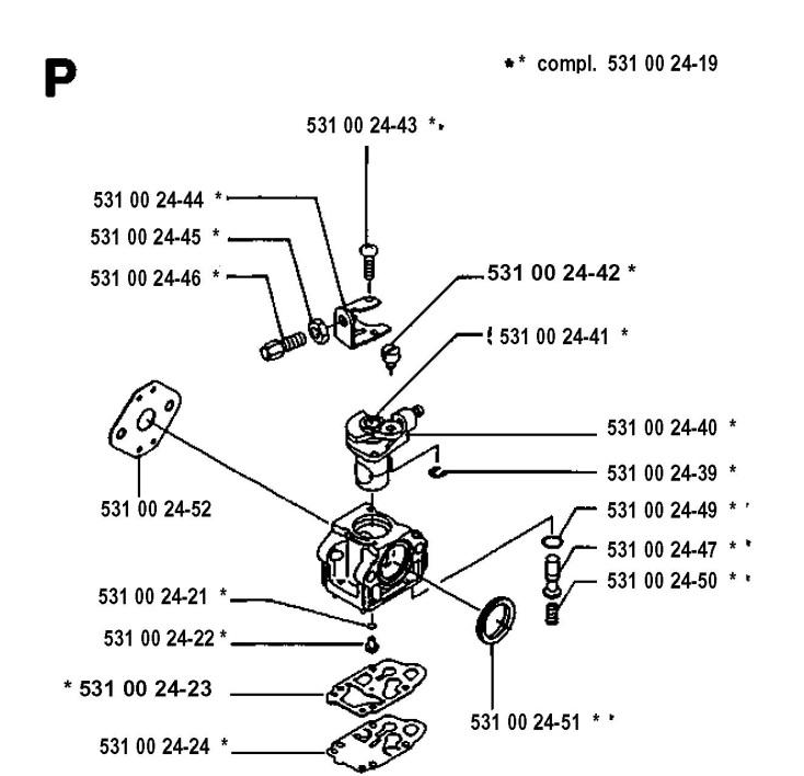 Husqvarna 125e Carburetor Diagram - All Wiring Diagram