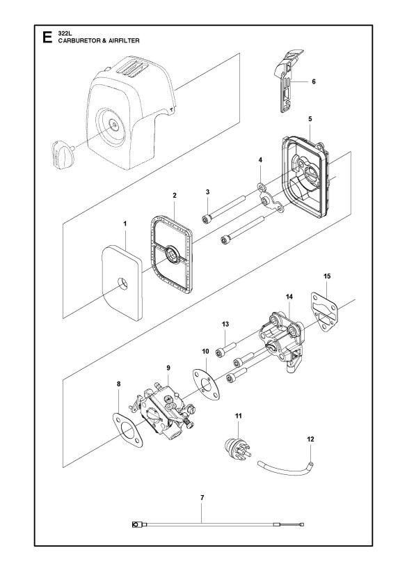 Husqvarna 322 L 2015 01 Trimmer Carburetor Amp Air Filter