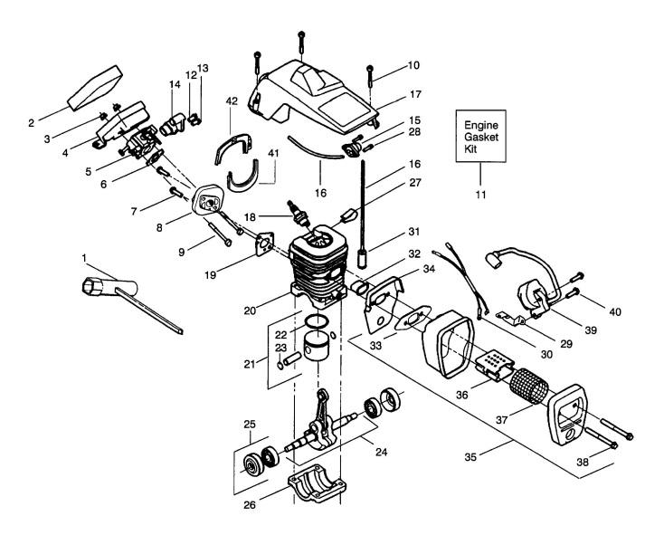 Jonsered 2035 1998 09 Chainsaw Cylinder Piston Muffler Spare