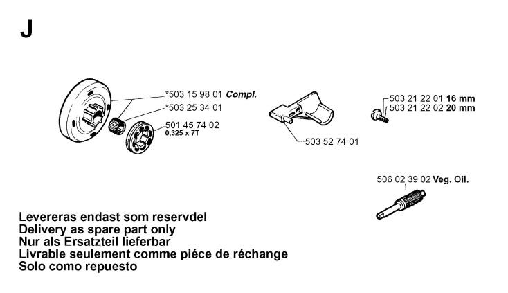 Jonsered 2050 Spare Parts