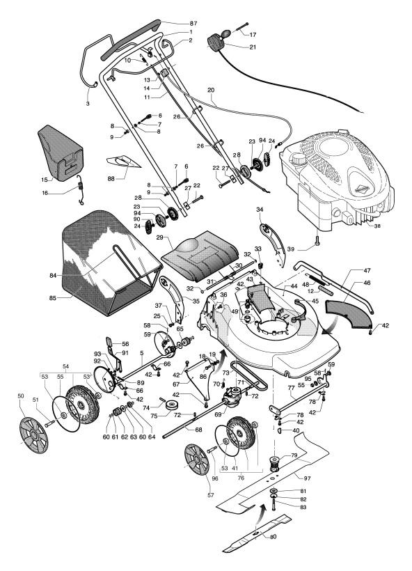 Jonsered Lm 2154 Cmd 965160401 Lawnmower Wheels Tires Spare