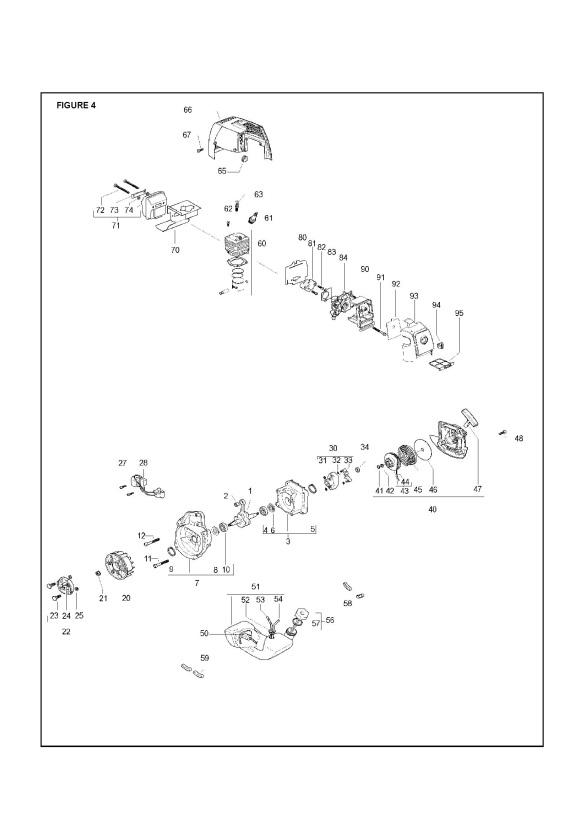 Mcculloch Elite 2 510 B Pro 953900764 Trimmer Engine Spare Parts