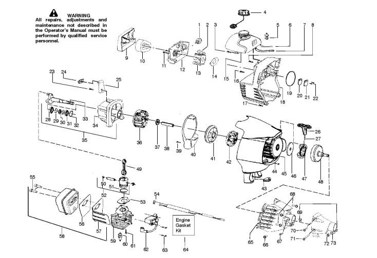 Mcculloch Mac 320 B Gt 952715686 Trimmer Engine Spare