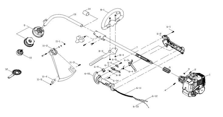 mcculloch mac 426 l  965980601  trimmer shaft  u0026 handle