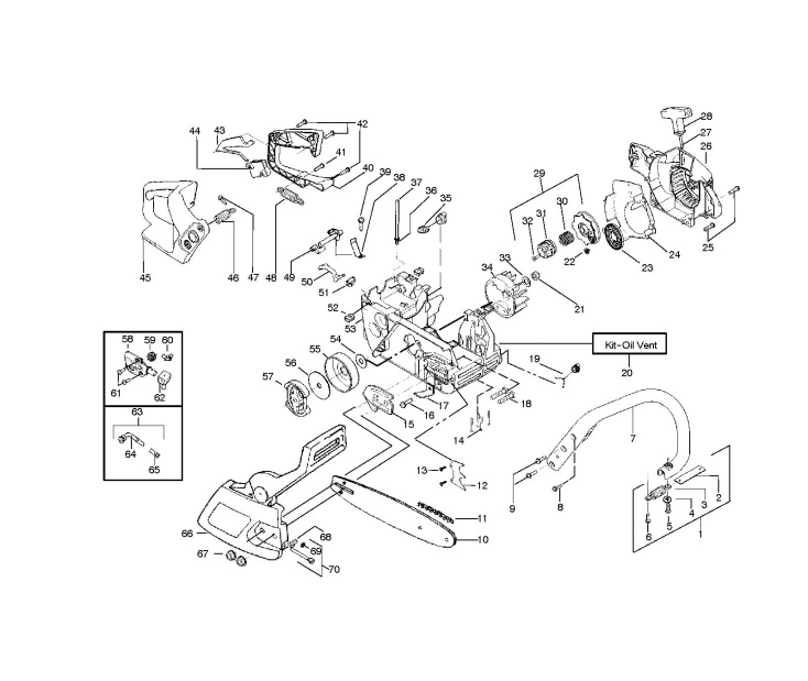 husqvarna 36 chainsaw parts diagram