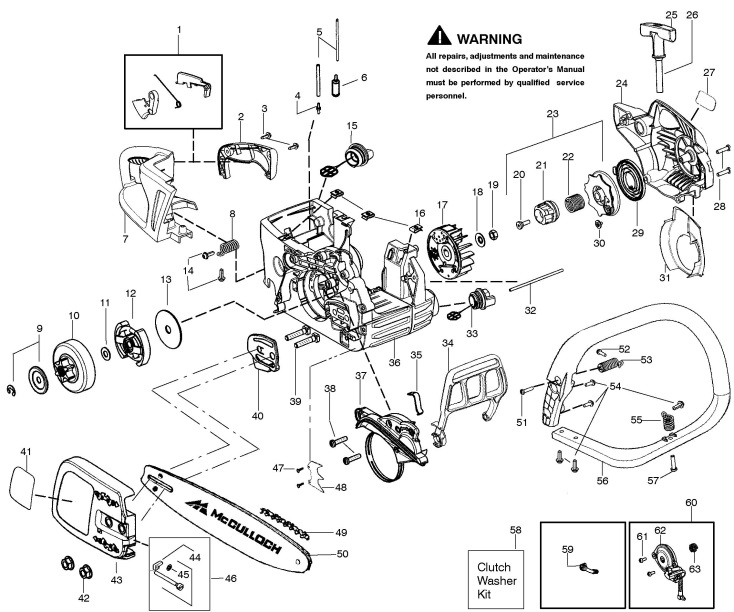 mcculloch cs330 967178201 chainsaw chassis enclosures spare rh ransomspares co uk McCulloch Chainsaw Parts McCulloch 38Cc Chainsaw Parts Diagram