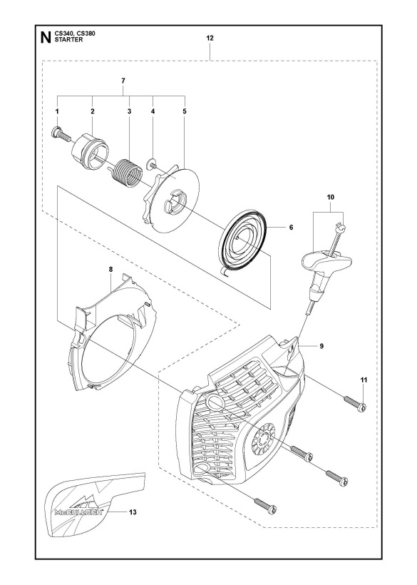 Mcculloch Chainsaw Starter Diagram