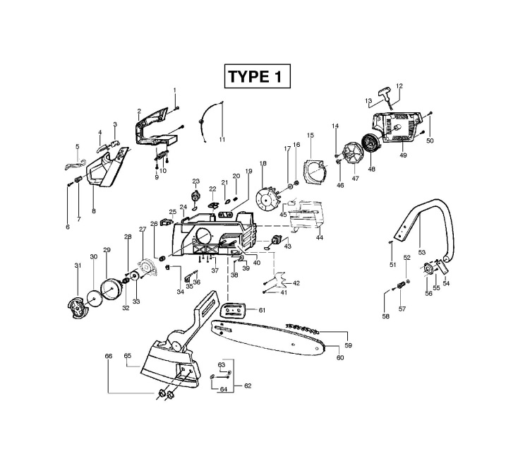 mcculloch mac 2818 av  952802080  chainsaw chassis  u0026 enclosures spare parts diagram