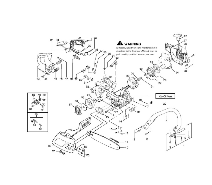 Mcculloch Mac Cat 438  952802011  Chainsaw Chassis