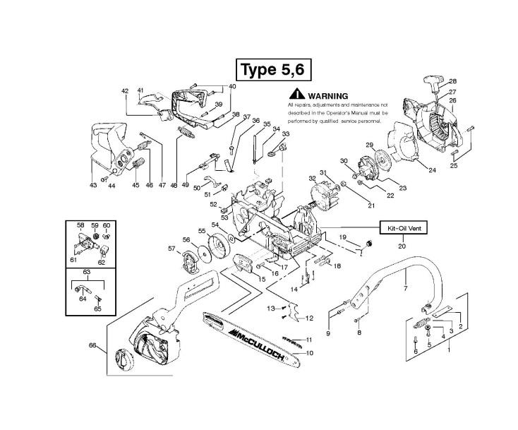 Mac Cat Mcculloch Chainsaw Parts Diagram