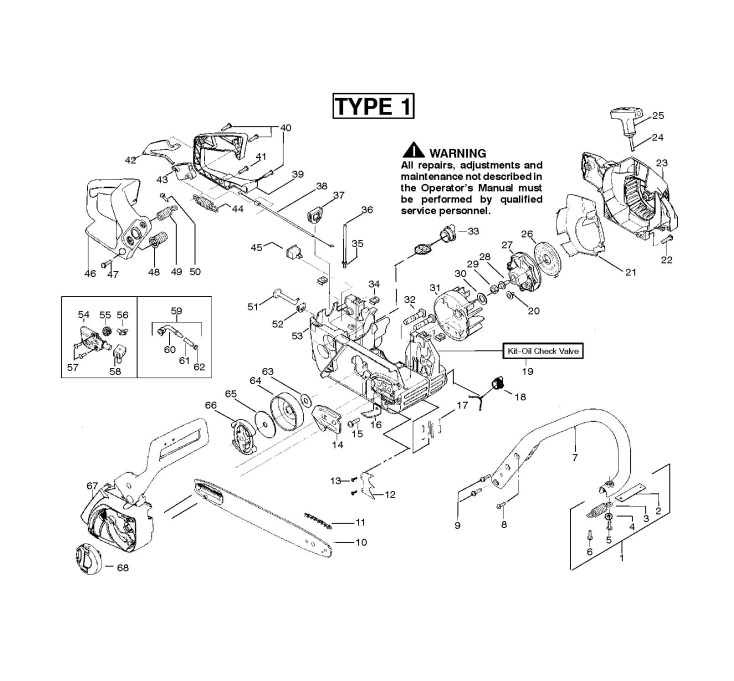 mcculloch mac cat 442  952802117  chainsaw chassis