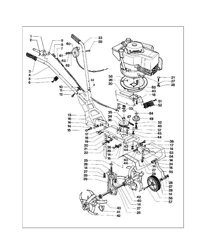 Mcculloch Mc 35 B  962000128  Cultivator Product Complete Spare Parts Diagram