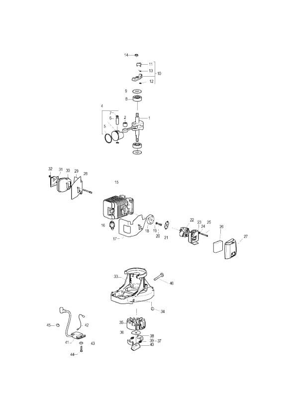 Mcculloch Gladiator 550 Prefix 01 966830801 Hedge Trimmer Engine
